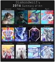2016 Summary of Art by DiamondwolfART