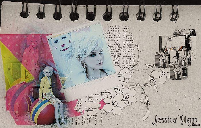 Jessica Stam collage by demolitionn