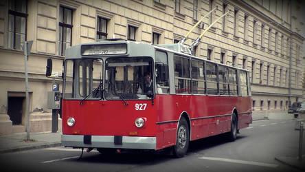 A Nostalgic Ziu-9B Trolley bus by metro911