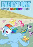 Everypony Loves Dash by tom-turbo