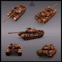 3D T-90 tank by toneloperu