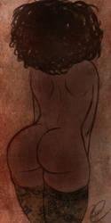Ebony Behind by Lavahanje