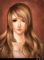 girl with brown hair by Qianqiu