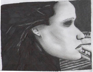 A weird drawing of Adele by chinogroso