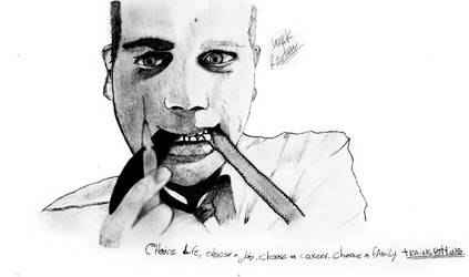 Mark Renton Drawing by chinogroso