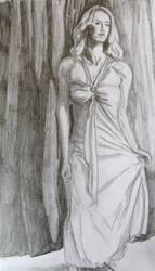 Posing woman by richardnorth