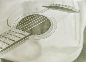 Guitar drawing by richardnorth
