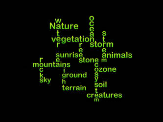 Nature typography by richardnorth