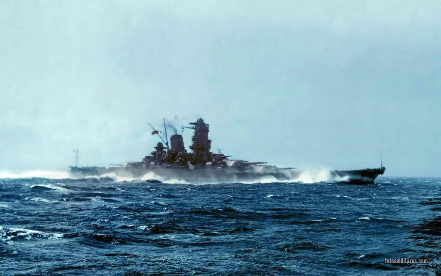 Battleship Yamato colored by tr4br