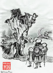 INKTOBER DAY 2: TRANQUIL by GrievousAlien