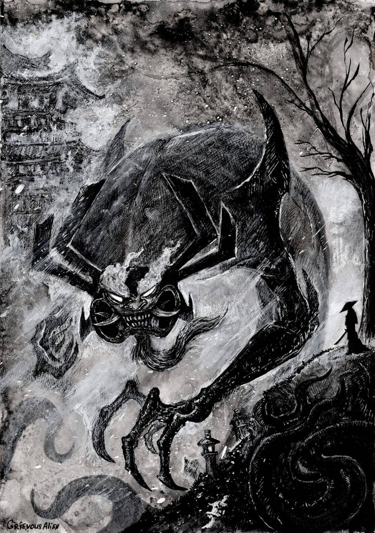 Inktober day 19: Scorched by GrievousAlien