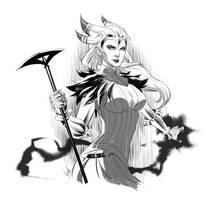 Dragon Age II Flemeth by virak