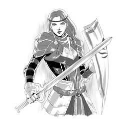 Dragon Age II Aveline by virak