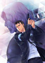 Detroit Become Human Connor and Hank by virak