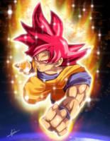 Super Saiyan God Goku by BlueAlacrity