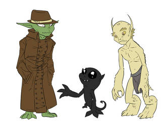 Mob and Bhurka Goblins by Readasaur