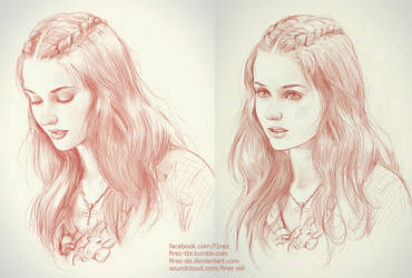 Sansa Stark Sketches by FiRez-DA