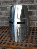 Steel Great Helm by PeacefulMynd