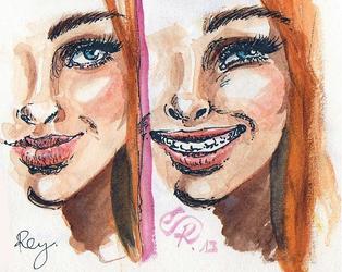 Smile vs big smile :) by Kikifuko