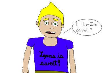 Zap in a blue tshirt fanart by ZapInSpace