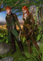Wood Elves I by rogue29730