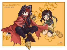 Vincent and Yuffie by Leimrei