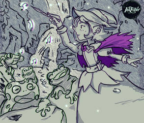 Witches and familiars 10. frog by Tornaku