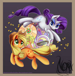 Rarity and Apple Jack: Yin and Yang by TheNornOnTheGo