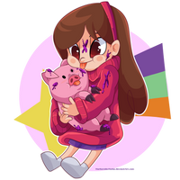 Mabel and Waddles by TheNornOnTheGo