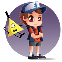 Dipper and Bill by TheNornOnTheGo