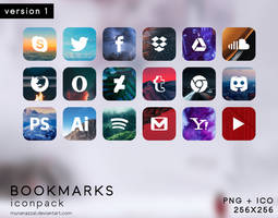 Bookmarks Icon Pack [ version 1 ] by MunaNazzal