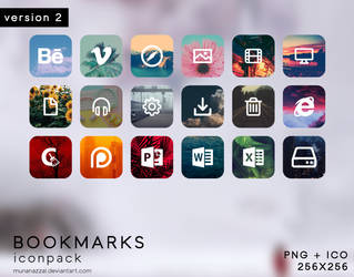 Bookmarks Icon Pack [ version 2 ] by MunaNazzal