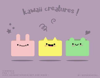 Kawaii Creatures Icon Pack by MunaNazzal