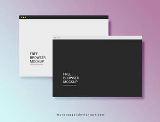 Free Browser Mockup by MunaNazzal
