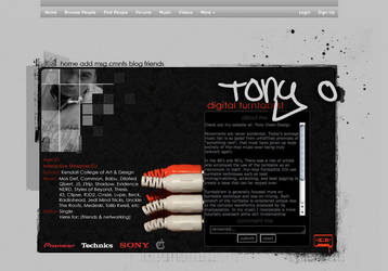 Myspace Design by dub