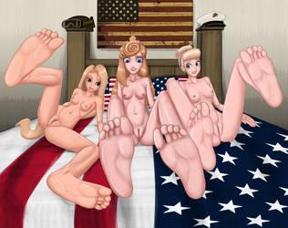 Commission #148 - Princesses Feet by Artemis-Polara