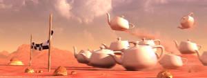 Run Teapot, Run by fluid-art