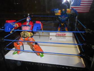 TFNation 2018 - TFA Wrestler Optimus + Sentinel?? by HealerCharm