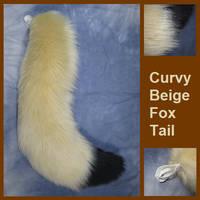 Curvy Beige Fox Tail - Fennec Fox by Lascivus-Lutra
