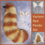Retsuko Red Panda Tail and Ears Set by Lascivus-Lutra