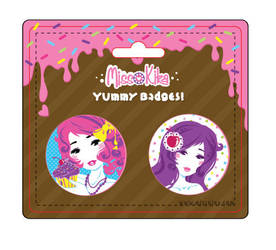 New button pack design by Blush-Art