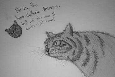 Attempting to draw a cat by CookiemagiK