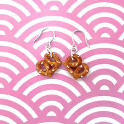 Salted Pretzel Earrings by KawaiiCulture