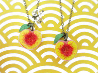 Peach Necklaces for Friends by KawaiiCulture