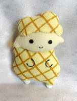 Art Trade!! Batter the Waffle Sheep by ThePlushieLady