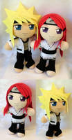 Commission, Mini Plushie Naruto Couple by ThePlushieLady