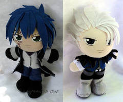 Commission, Mini Plushie Fairy Tail Duo by ThePlushieLady