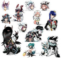 -C- Shadowmonster Sketchpage by ThePlushieLady