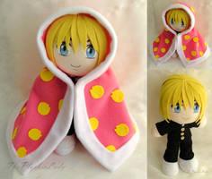 Commission, Mini Plushie Blanket! Armin Arlert by ThePlushieLady