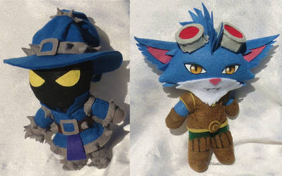 Mini Chibi Plushies: Veigar and Rumble by ThePlushieLady